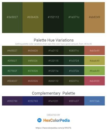 Palette image download - Dark Olive Green – Dark Olive Green – Dark Slate Gray – Dark Slate Gray – Peru