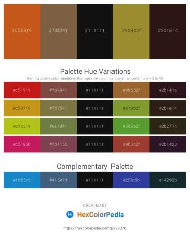 Palette image download - Chocolate – Light Coral – Black – Olive Drab – Salmon