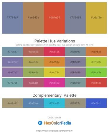 Palette image download - Light Slate Gray – Tomato – Chocolate – Light Slate Gray – Peru