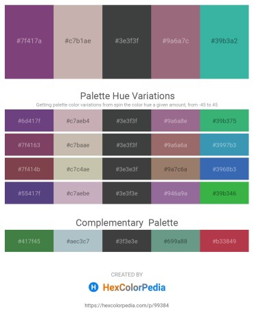 Palette image download - Sienna – Rosy Brown – Dark Slate Gray – Gray – Medium Sea Green