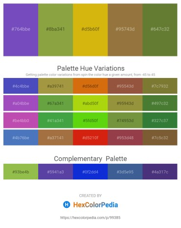 Palette image download - Slate Blue – Yellow Green – Goldenrod – Sienna – Dark Olive Green