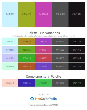 Palette image download - Light Cyan – Yellow Green – Orchid – Dim Gray – Black