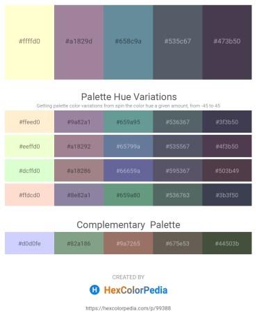 Palette image download - Lemon Chiffon – Rosy Brown – Cadet Blue – Slate Gray – Gray