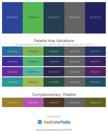 Palette image download - Dark Slate Blue – Medium Sea Green – Dark Slate Gray – Dim Gray – Midnight Blue