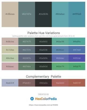 Palette image download - Tan – Slate Gray – Dark Slate Gray – Cadet Blue – Steel Blue