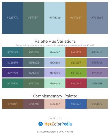 Palette image download - Dark Slate Blue – Slate Gray – Powder Blue – Sienna – Light Slate Gray