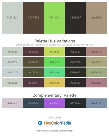 Palette image download - Dark Sea Green – Dark Sea Green – Yellow Green – Black – Rosy Brown