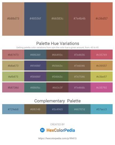 Palette image download - Rosy Brown – Dark Slate Gray – Dark Olive Green – Light Slate Gray – Indian Red