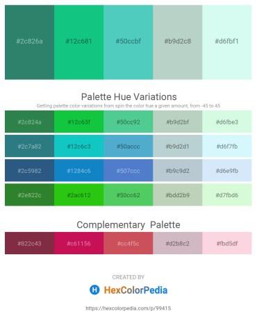 Palette image download - Sea Green – Light Sea Green – Medium Turquoise – Light Steel Blue – Light Cyan