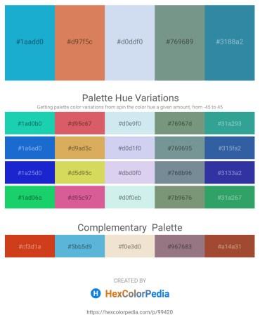 Palette image download - Light Sea Green – Peru – Powder Blue – Light Slate Gray – Steel Blue