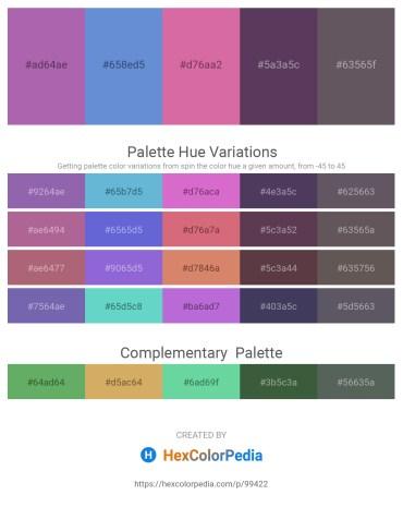 Palette image download - Medium Orchid – Slate Blue – Pale Violet Red – Dark Slate Blue – Dim Gray