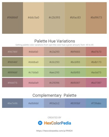 Palette image download - Gray – Tan – Light Slate Gray – Dark Khaki – Dark Khaki