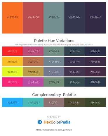Palette image download - Tomato – Indian Red – Slate Gray – Olive Drab – Dim Gray