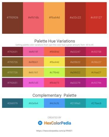 Palette image download - Sienna – Light Coral – Sandy Brown – Firebrick – Firebrick