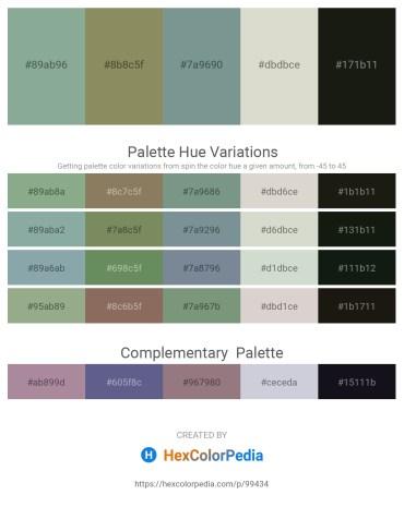 Palette image download - Dark Sea Green – Gray – Light Slate Gray – Light Gray – Black