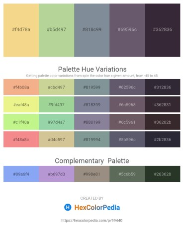Palette image download - Khaki – Dark Sea Green – Light Slate Gray – Dark Sea Green – Black
