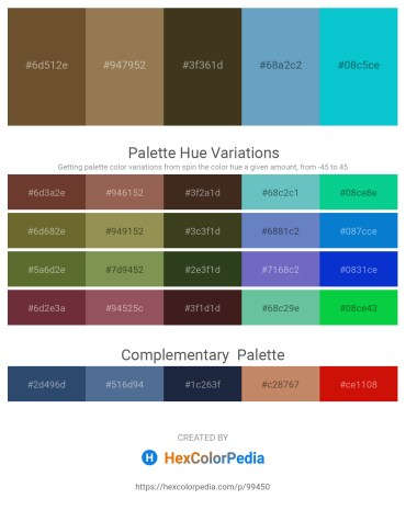 Palette image download - Dim Gray – Rosy Brown – Dark Goldenrod – Steel Blue – Dark Turquoise