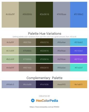 Palette image download - Tan – Gray – Dark Olive Green – Light Slate Gray – Royal Blue