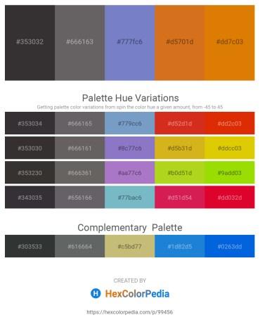 Palette image download - Black – Dim Gray – Slate Blue – Chocolate – Dark Orange