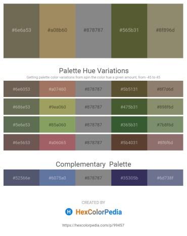 Palette image download - Dim Gray – Dark Khaki – Gray – Dark Olive Green – Gray