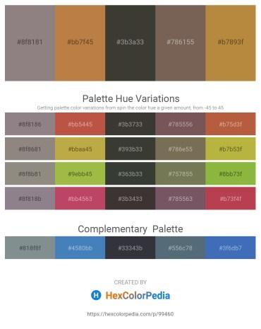 Palette image download - Gray – Peru – Dim Gray – Dim Gray – Peru