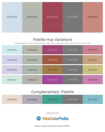 Palette image download - Light Steel Blue – Dark Gray – Sienna – Gray – Rosy Brown