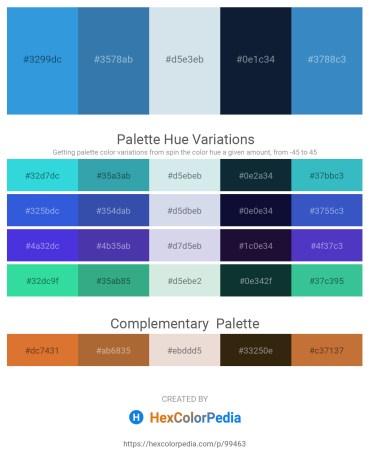 Palette image download - Royal Blue – Steel Blue – Light Steel Blue – Midnight Blue – Steel Blue