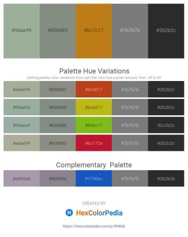 Palette image download - Dark Sea Green – Dark Sea Green – Chocolate – Gray – Dark Slate Gray