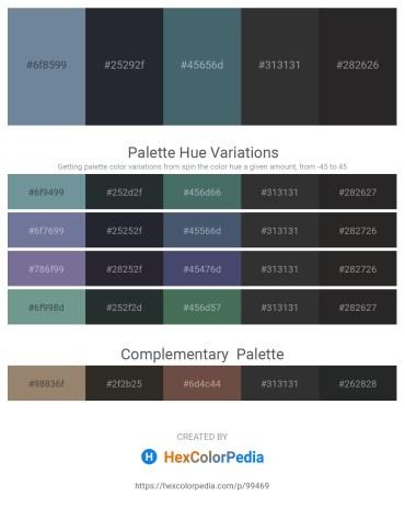 Palette image download - Light Slate Gray – Dark Slate Gray – Dark Slate Gray – Black – Black