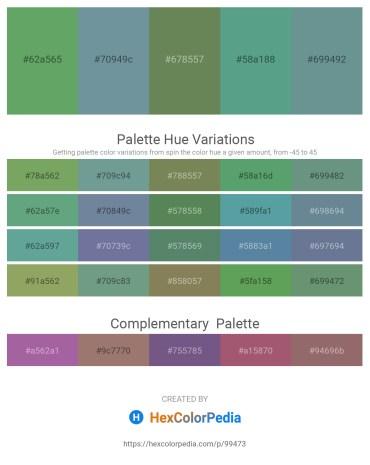 Palette image download - Dark Sea Green – Light Slate Gray – Dark Olive Green – Cadet Blue – Cadet Blue