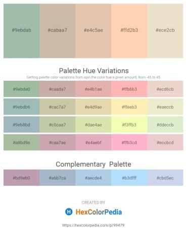 Palette image download - Dark Sea Green – Rosy Brown – Burlywood – Peach Puff – Beige