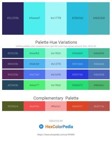 Palette image download - Dark Slate Blue – Turquoise – Light Sky Blue – Turquoise – Salmon