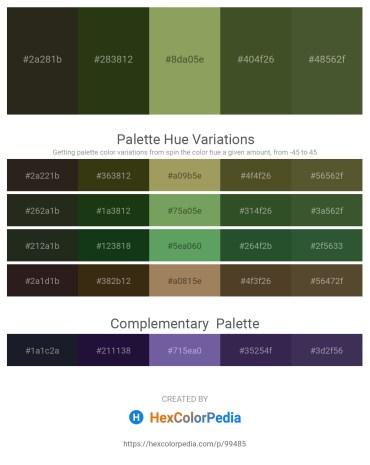 Palette image download - Black – Dark Olive Green – Dark Khaki – Dark Olive Green – Dark Olive Green