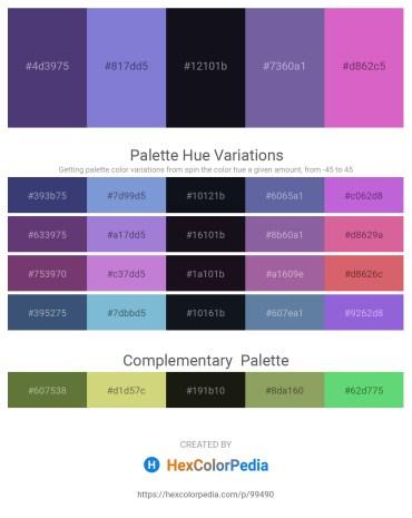 Palette image download - Dark Slate Blue – Medium Purple – Peru – Light Slate Gray – Orchid