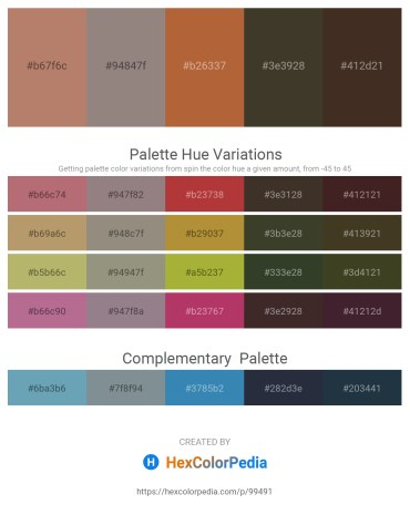 Palette image download - Rosy Brown – Gray – Sienna – Brown – Sienna
