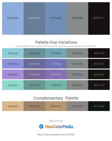 Palette image download - Light Steel Blue – Slate Gray – Cadet Blue – Slate Gray – Black