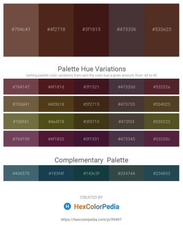 Palette image download - Dark Slate Blue – Saddle Brown – Saddle Brown – Gray – Gray