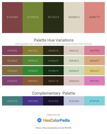 Palette image download - Sienna – Dark Olive Green – Dark Salmon – Tan – Pale Violet Red