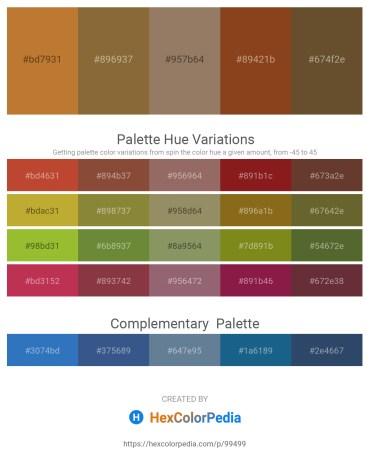 Palette image download - Peru – Sienna – Gray – Saddle Brown – Dim Gray