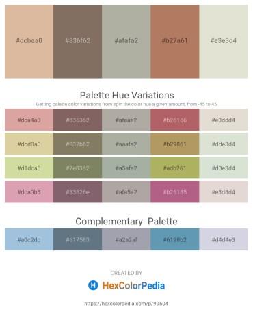 Palette image download - Tan – Dim Gray – Dark Gray – Rosy Brown – Gainsboro