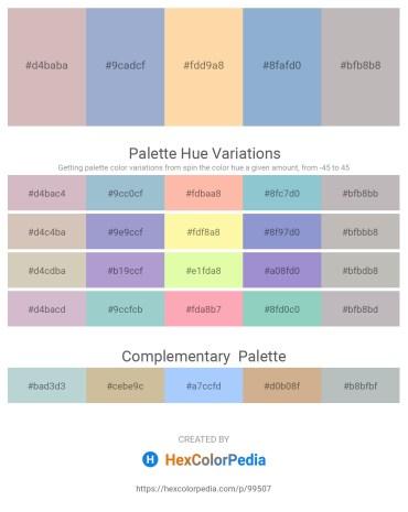 Palette image download - Thistle – Light Steel Blue – Navajo White – Light Steel Blue – Silver
