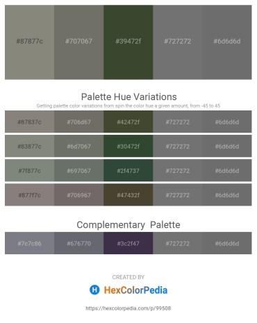 Palette image download - Gray – Dim Gray – Dark Olive Green – Dim Gray – Dim Gray