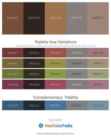 Palette image download - Sienna – Black – Sienna – Gray – Rosy Brown