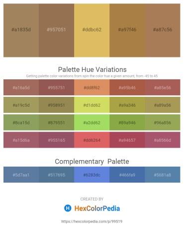 Palette image download - Dark Khaki – Sandy Brown – Burlywood – Peru – Sienna