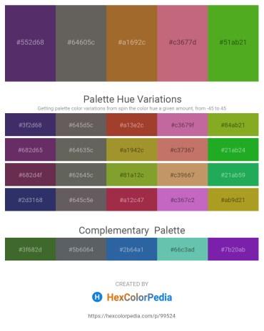 Palette image download - Dark Slate Blue – Dim Gray – Sienna – Indian Red – Olive Drab