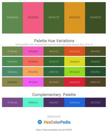 Palette image download - Dark Olive Green – Light Coral – Dark Olive Green – Goldenrod – Dark Olive Green