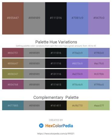Palette image download - Sienna – Gray – Light Coral – Slate Blue – Slate Blue
