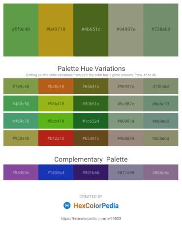 Palette image download - Dark Olive Green – Dark Goldenrod – Olive Drab – Gray – Dark Sea Green