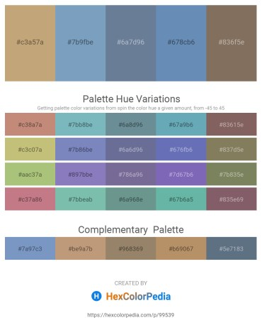 Palette image download - Dark Khaki – Cadet Blue – Slate Gray – Steel Blue – Dim Gray