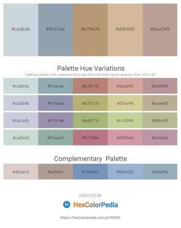 Palette image download - Light Steel Blue – Light Slate Gray – Dark Khaki – Tan – Rosy Brown
